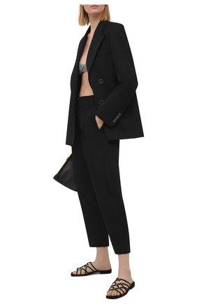 Женские замшевые шлепанцы SERGIO ROSSI черного цвета, арт. A94560-MCAZ01 | Фото 2