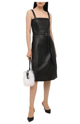 Женские кожаные туфли gala PIERRE HARDY черного цвета, арт. UL02/LAMB   Фото 2