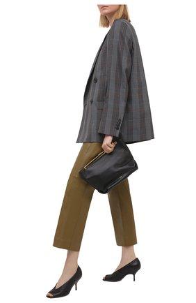 Женские кожаные туфли gala PIERRE HARDY черного цвета, арт. VC11/LAMB   Фото 2