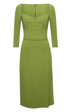 Женское платье DOLCE & GABBANA зеленого цвета, арт. F6N0UT/FURDV | Фото 1