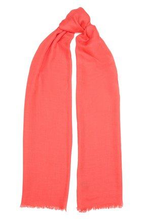 Женский шарф aria из смеси кашемира и шелка LORO PIANA кораллового цвета, арт. FAI0704 | Фото 1