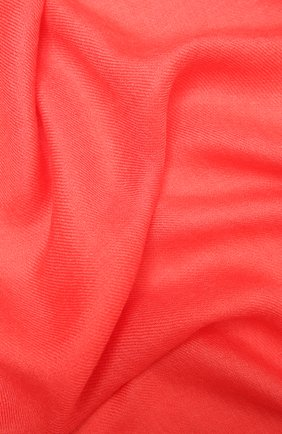 Женский шарф aria из смеси кашемира и шелка LORO PIANA кораллового цвета, арт. FAI0704 | Фото 2