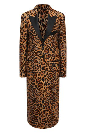 Женское шерстяное пальто PACO RABANNE леопардового цвета, арт. 21ECMA113LA0254 | Фото 1