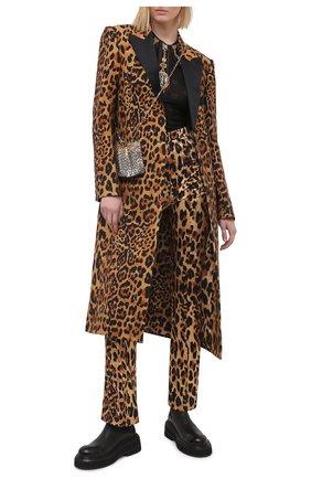 Женское шерстяное пальто PACO RABANNE леопардового цвета, арт. 21ECMA113LA0254 | Фото 2