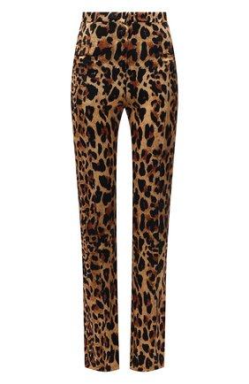 Женские брюки из вискозы PACO RABANNE леопардового цвета, арт. 21EJPA122VI0231 | Фото 1