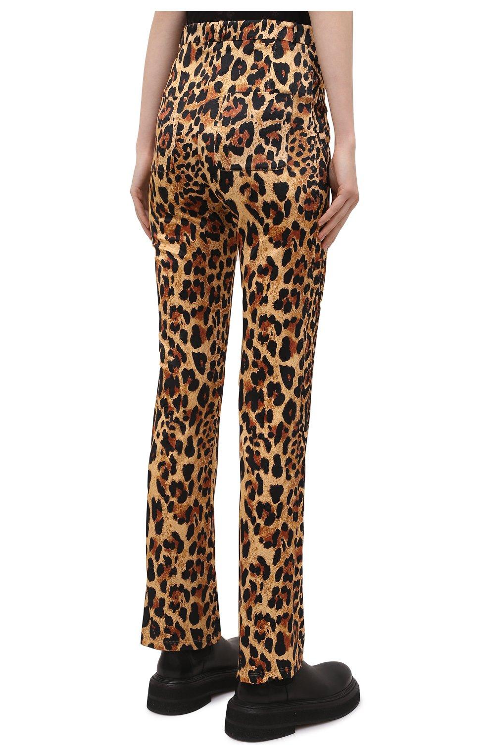 Женские брюки из вискозы PACO RABANNE леопардового цвета, арт. 21EJPA122VI0231 | Фото 4
