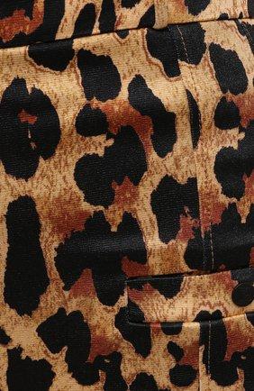 Женские брюки из вискозы PACO RABANNE леопардового цвета, арт. 21EJPA122VI0231 | Фото 5