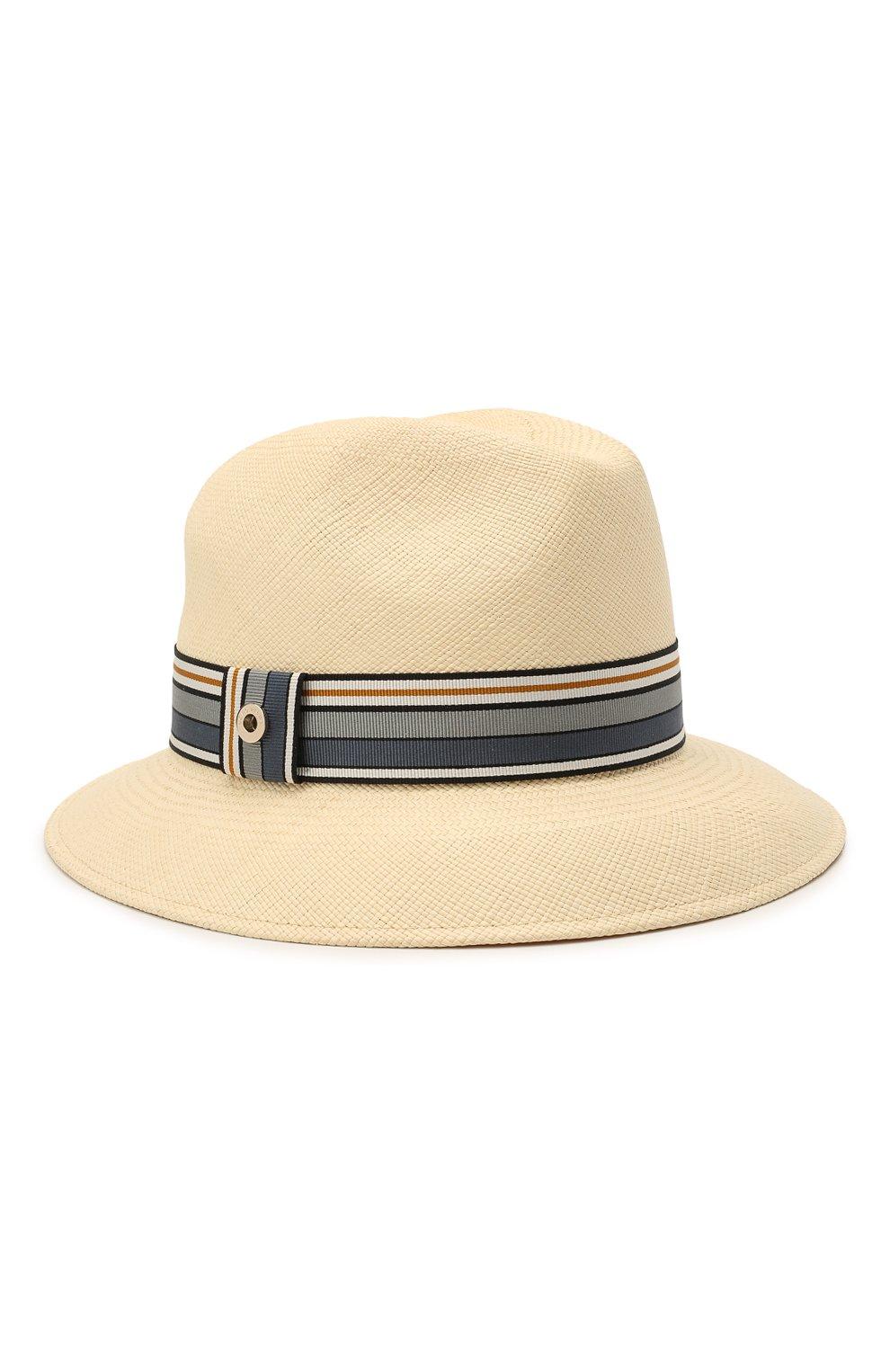 Женская соломенная шляпа ingrid LORO PIANA синего цвета, арт. FAI5791 | Фото 1 (Материал: Растительное волокно)