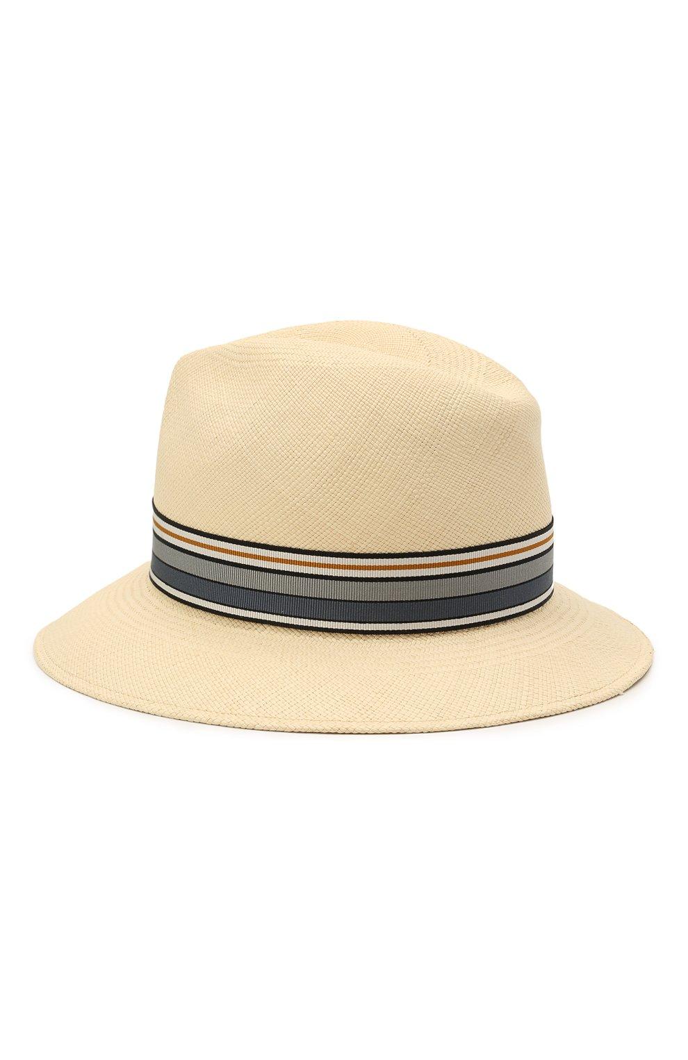 Женская соломенная шляпа ingrid LORO PIANA синего цвета, арт. FAI5791 | Фото 2 (Материал: Растительное волокно)