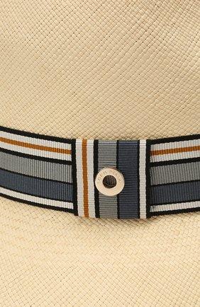 Женская соломенная шляпа ingrid LORO PIANA синего цвета, арт. FAI5791 | Фото 3 (Материал: Растительное волокно)