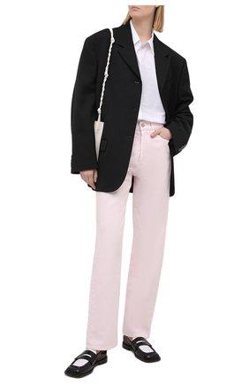 Женские джинсы DRIES VAN NOTEN розового цвета, арт. 211-12413-2378 | Фото 2