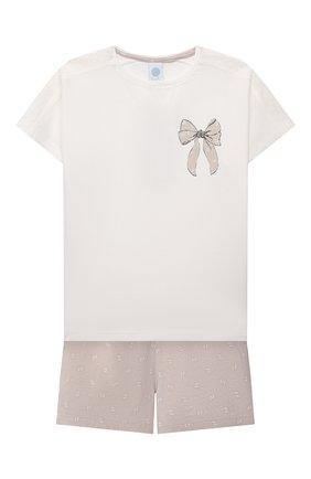 Детская пижама SANETTA светло-розового цвета, арт. 244945. | Фото 1