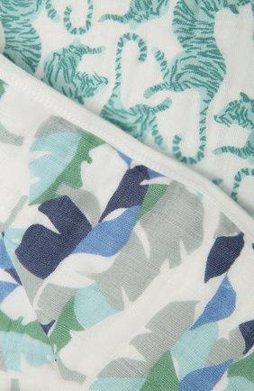 Детского хлопковое одеяло ADEN+ANAIS зеленого цвета, арт. ADBC10009 | Фото 2