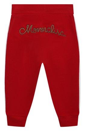 Детские хлопковые джоггеры MONNALISA красного цвета, арт. 397410R1 | Фото 2