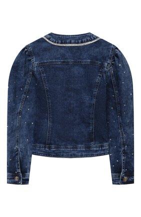 Детская джинсовая куртка MONNALISA голубого цвета, арт. 797103A3 | Фото 2 (Материал внешний: Хлопок; Рукава: Длинные; Кросс-КТ: Деним; Ростовка одежда: 10 - 11 лет | 140 - 146см, 12 лет | 152 см, 4 года | 104 см, 5 лет | 110 см, 6 лет | 116 см, 8 лет | 128 см)