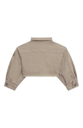Укороченная куртка из денима | Фото №2