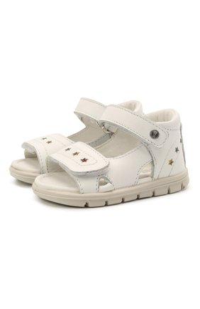 Детские кожаные босоножки FALCOTTO белого цвета, арт. 0011500900/01 | Фото 1