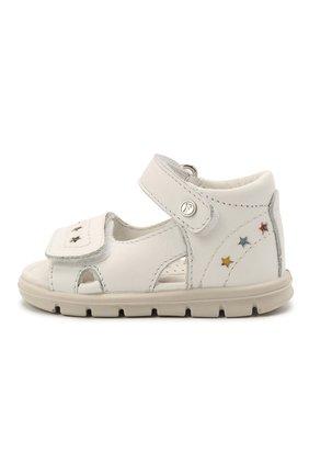 Детские кожаные босоножки FALCOTTO белого цвета, арт. 0011500900/01 | Фото 2