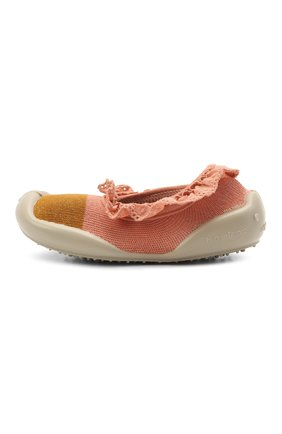 Детского домашние туфли COLLEGIEN розового цвета, арт. 113G/18-35 | Фото 2
