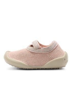 Детского домашние туфли COLLEGIEN розового цвета, арт. 114R/18-35 | Фото 2