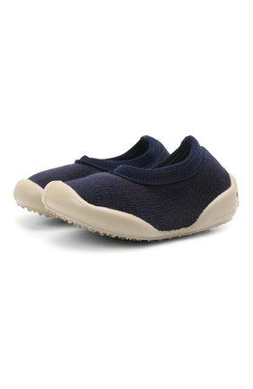 Детского домашние туфли COLLEGIEN синего цвета, арт. T0P3/18-35 | Фото 1 (Материал внутренний: Текстиль; Материал внешний: Текстиль; Кросс-КТ: слиперы)