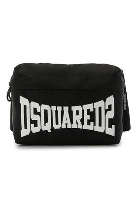 Детская поясная сумка DSQUARED2 черного цвета, арт. DQ0138-D005T | Фото 1