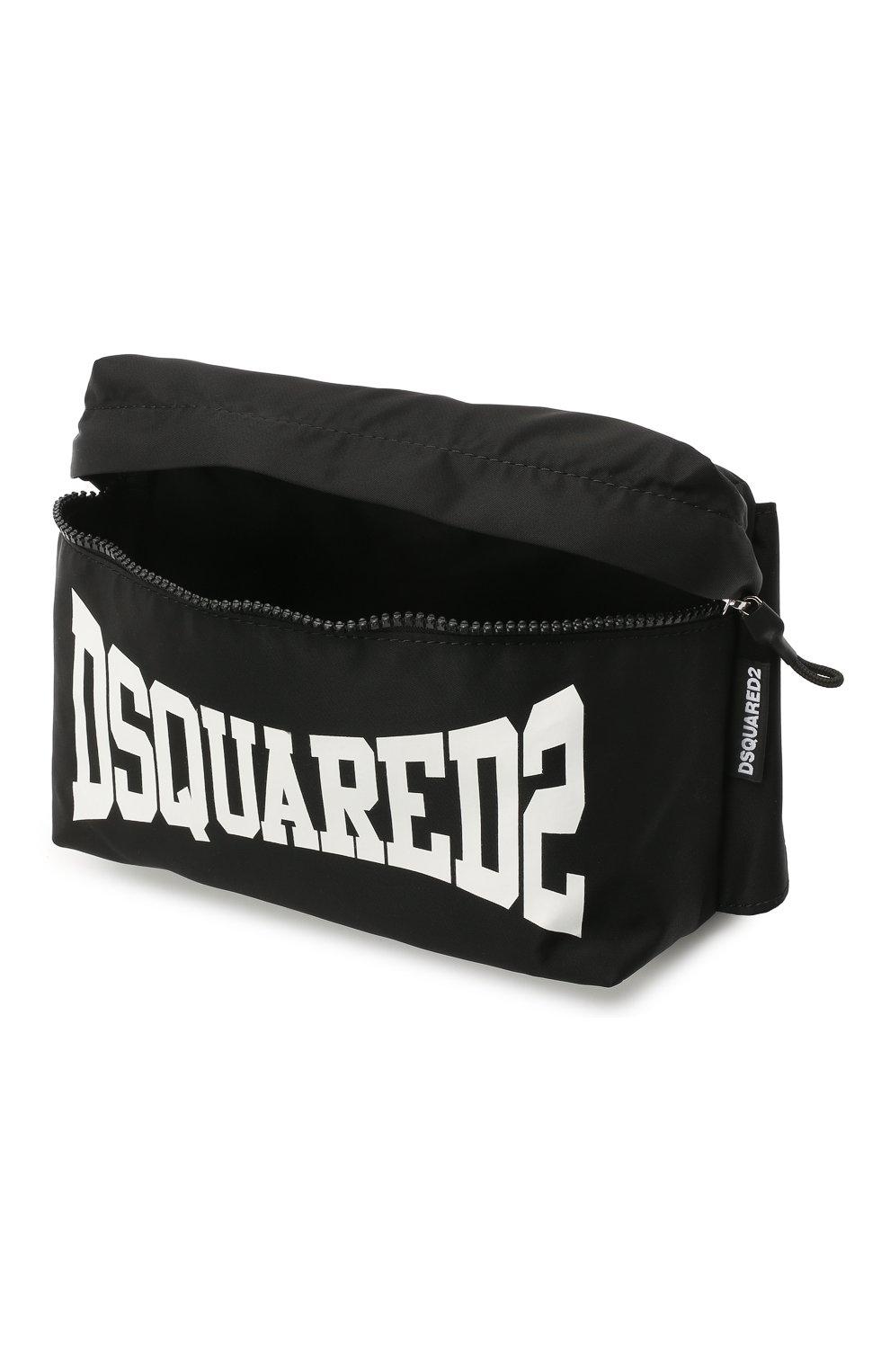 Детская поясная сумка DSQUARED2 черного цвета, арт. DQ0138-D005T | Фото 3