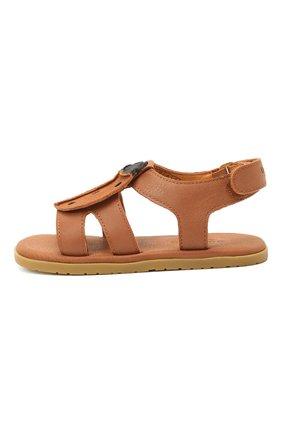 Детские кожаные сандалии DONSJE AMSTERDAM коричневого цвета, арт. 2004004-CL001/23-28   Фото 2