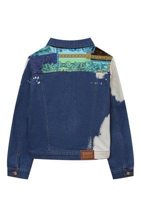 Детская джинсовая куртка VERSACE синего цвета, арт. 1000118/1A00317/8A-14A | Фото 2