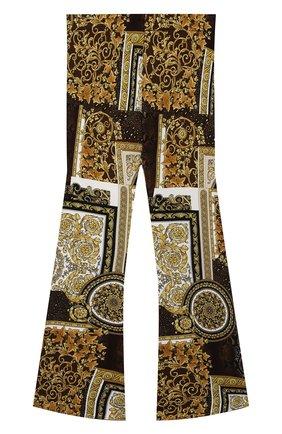 Детские брюки из вискозы VERSACE разноцветного цвета, арт. 1000038/1A00301/8A-14A | Фото 1