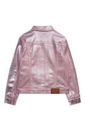 Детская джинсовая куртка VERSACE розового цвета, арт. 1000008/1A00050/8A-14A | Фото 2