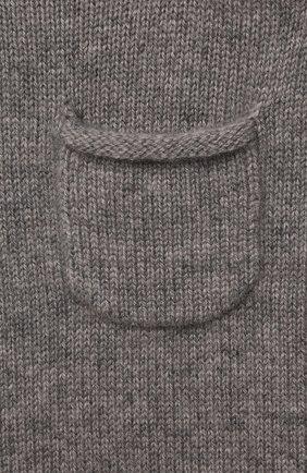 Детский кашемировый комбинезон OSCAR ET VALENTINE серого цвета, арт. PIL01 | Фото 3