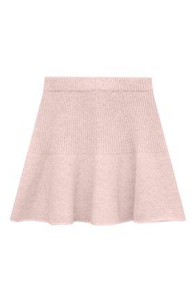 Детская кашемировая юбка OSCAR ET VALENTINE розового цвета, арт. JUP05S | Фото 1