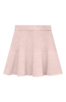 Детская кашемировая юбка OSCAR ET VALENTINE розового цвета, арт. JUP05S | Фото 2