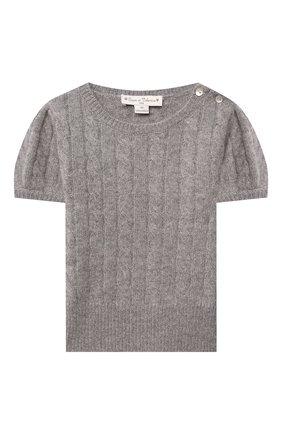 Детский кашемировый пуловер OSCAR ET VALENTINE серого цвета, арт. PUL05M | Фото 1