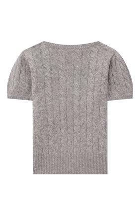 Детский кашемировый пуловер OSCAR ET VALENTINE серого цвета, арт. PUL05M | Фото 2