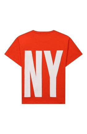 Детская хлопковая футболка DKNY оранжевого цвета, арт. D25D29 | Фото 2