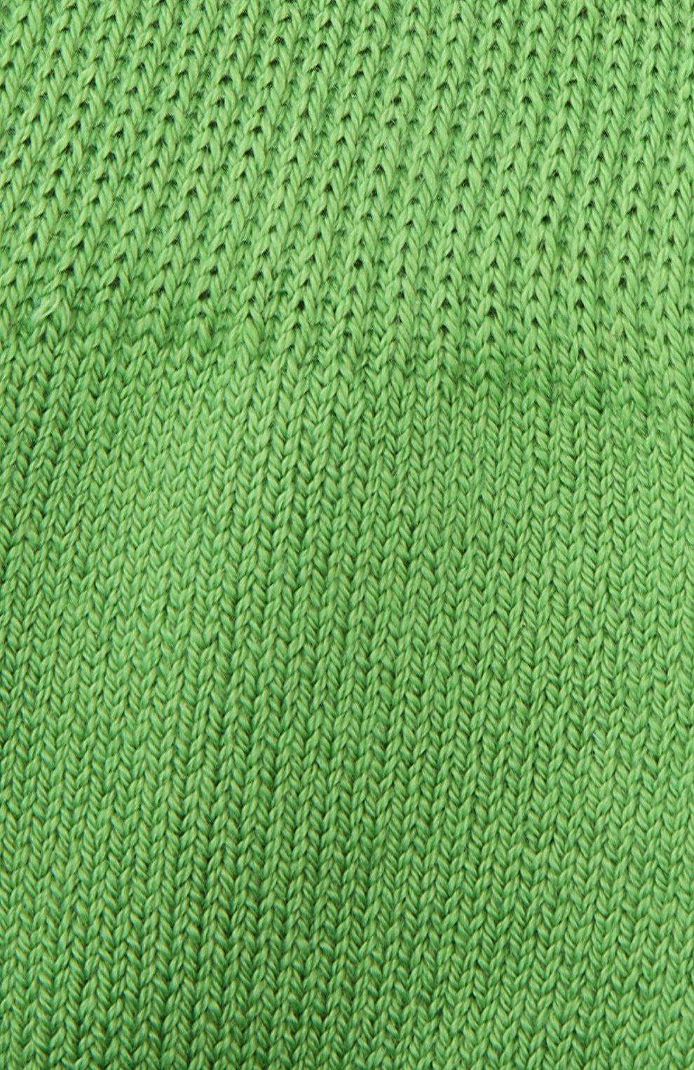 Детские носки из хлопка и шерсти FALKE зеленого цвета, арт. 10500.   Фото 2 (Материал: Текстиль, Хлопок)