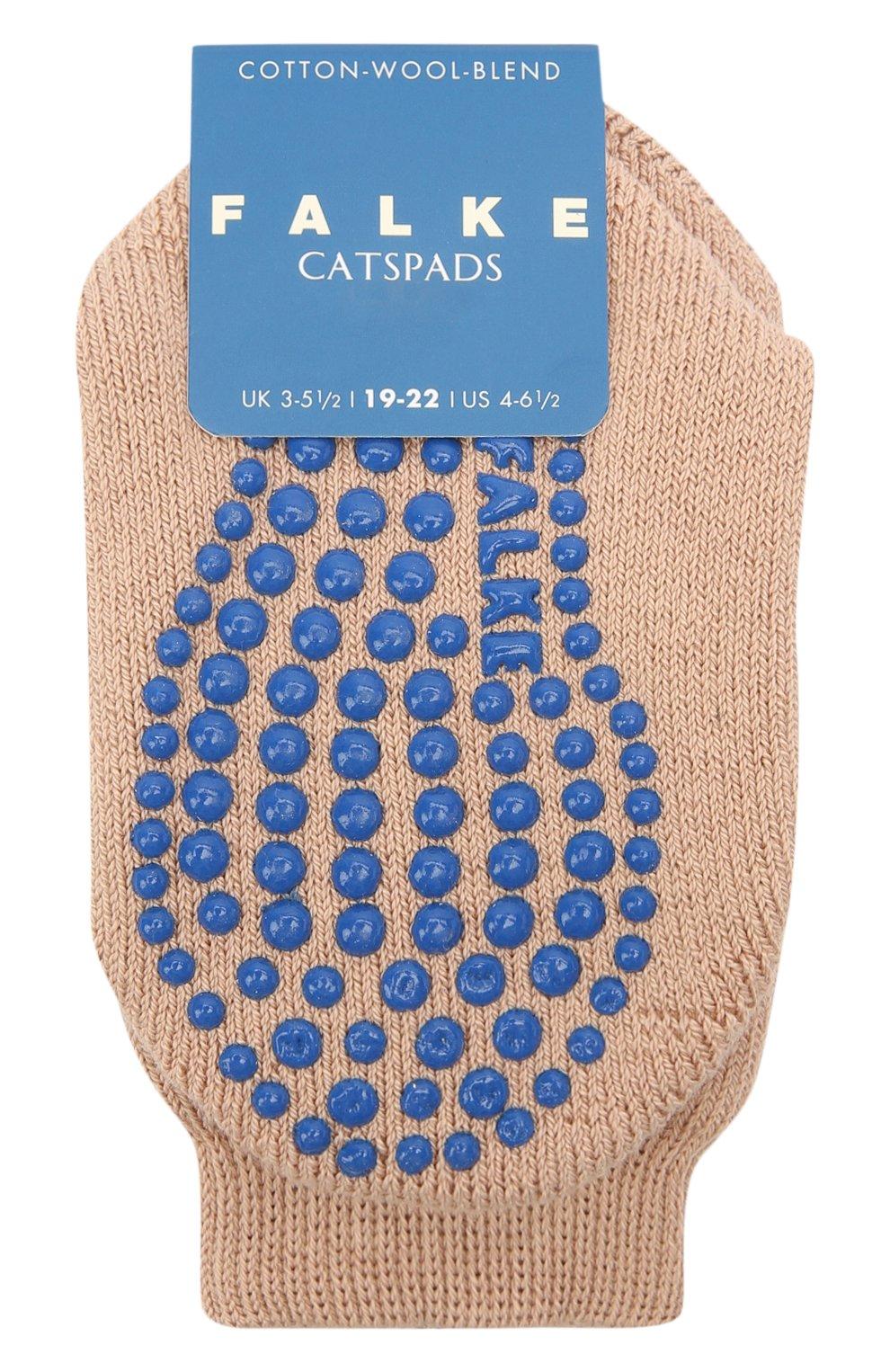 Детские носки из хлопка и шерсти FALKE коричневого цвета, арт. 10500. | Фото 1 (Материал: Текстиль, Хлопок)