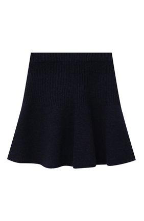 Детская кашемировая юбка OSCAR ET VALENTINE синего цвета, арт. JUP05S | Фото 2