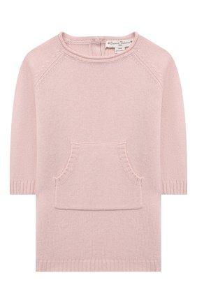 Детское кашемировое платье OSCAR ET VALENTINE розового цвета, арт. ROB01M | Фото 1 (Рукава: Длинные; Материал внешний: Кашемир, Шерсть; Случай: Повседневный; Девочки Кросс-КТ: Платье-одежда; Ростовка одежда: 2 года | 92 см, 3 года | 98 см, 5 лет | 110 см)