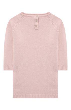 Детское кашемировое платье OSCAR ET VALENTINE розового цвета, арт. ROB01M | Фото 2 (Рукава: Длинные; Материал внешний: Кашемир, Шерсть; Случай: Повседневный; Девочки Кросс-КТ: Платье-одежда; Ростовка одежда: 2 года | 92 см, 3 года | 98 см, 5 лет | 110 см)