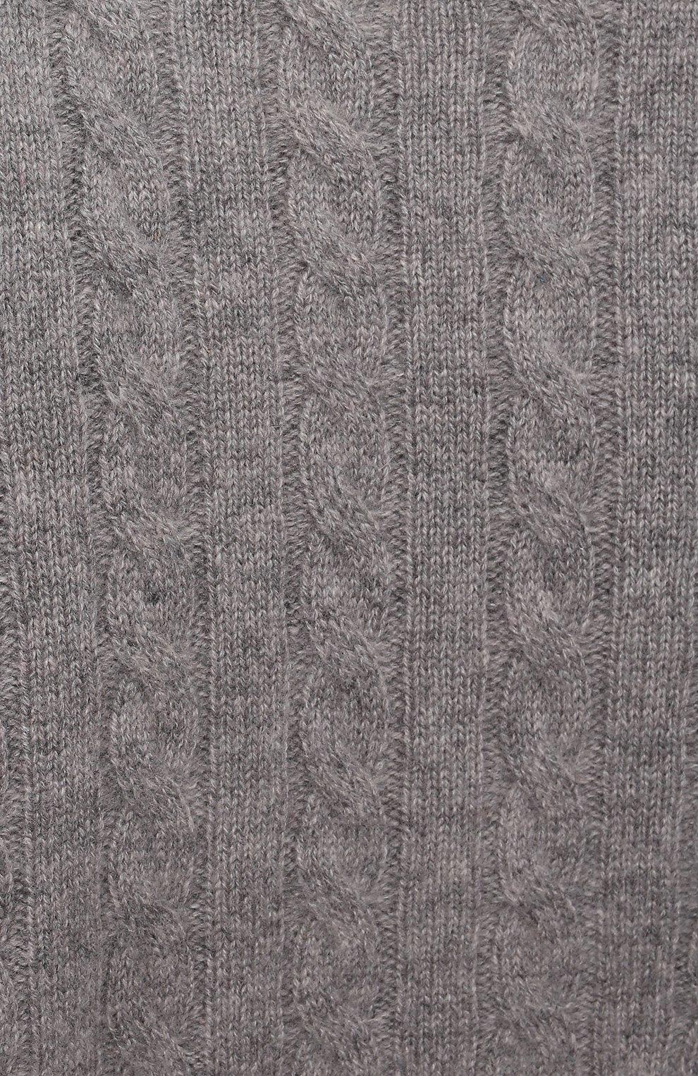 Детский кашемировый пуловер OSCAR ET VALENTINE серого цвета, арт. PUL05S | Фото 3