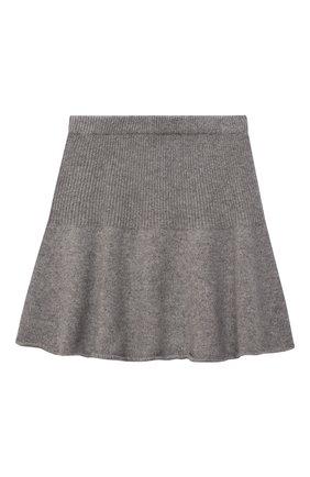 Детская кашемировая юбка OSCAR ET VALENTINE серого цвета, арт. JUP05L | Фото 1