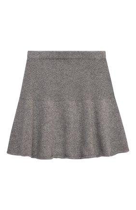 Детская кашемировая юбка OSCAR ET VALENTINE серого цвета, арт. JUP05L | Фото 2