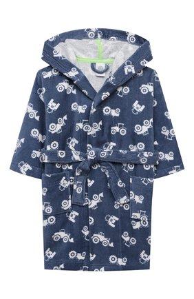 Детский хлопковый халат SANETTA синего цвета, арт. 232586 | Фото 1
