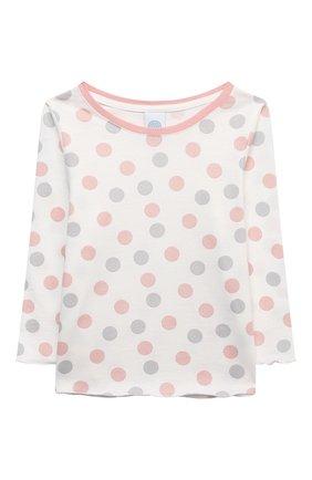 Детская хлопковая пижама SANETTA светло-розового цвета, арт. 232571 | Фото 2
