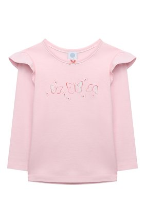 Детский хлопковая пижама SANETTA светло-розового цвета, арт. 232608 | Фото 2
