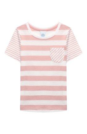 Детская хлопковая пижама SANETTA светло-розового цвета, арт. 232568 | Фото 2