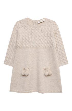 Женский кашемировое платье OSCAR ET VALENTINE бежевого цвета, арт. ROB05S | Фото 1